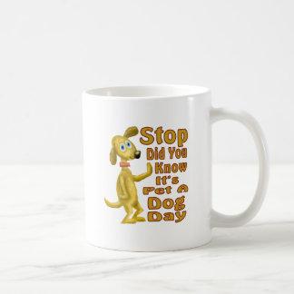 Pet A Dog Day Basic White Mug