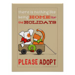 Pet Adoption Patch n Rusty Home for Christmas Print