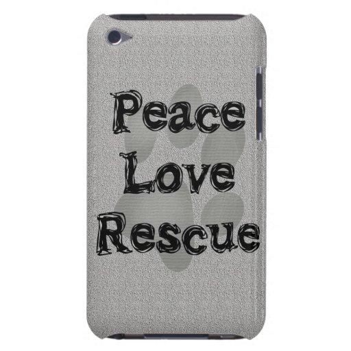Pet Adoption Peace Love Rescue iPod Case-Mate Case