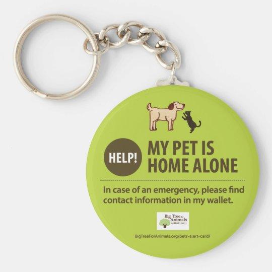 Dog Home Alone Keychain