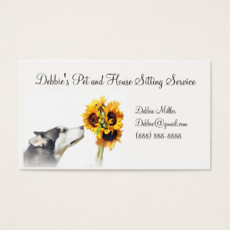Pet and House Sitting Business Cards