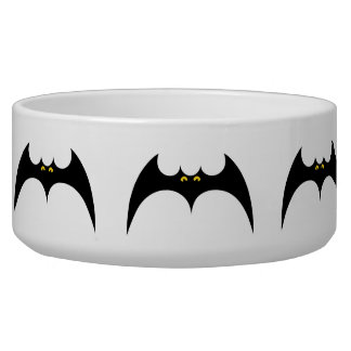 Pet Bowl Bats Halloween Design