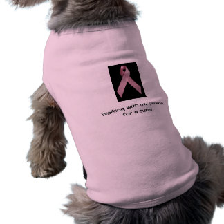 Pet Breast Cancer T-shirt Sleeveless Dog Shirt