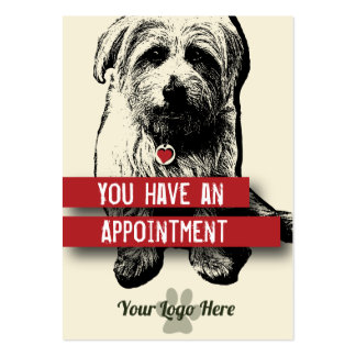 Pet Business Appointment Card - Personalizable Pack Of Chubby Business Cards