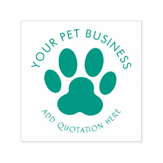 pet business paw print self-inking stamp