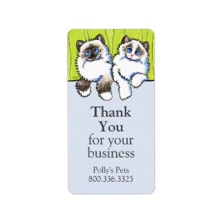 Pet Business Ragdoll Cats Off-Leash Art™ Address Label