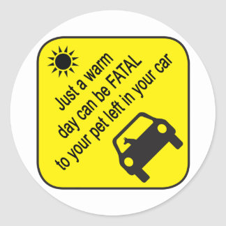 Pet Car Heat Warning Sticker