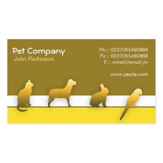 Pet Care business card Standard Business Cards