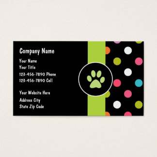 Pet Care Business Cards