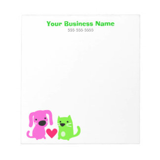 Pet Care Business Notepads