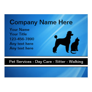 Pet Care Business Postcards