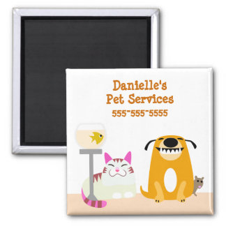Pet Care Business Square Magnet