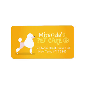 Pet Care Grooming Sitting Adorable Cartoon Dog Label