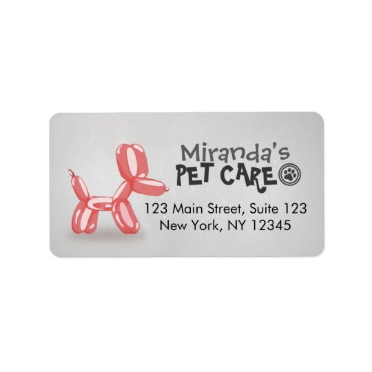 Pet Care Grooming Sitting Bathing Cute Dog Balloon Label