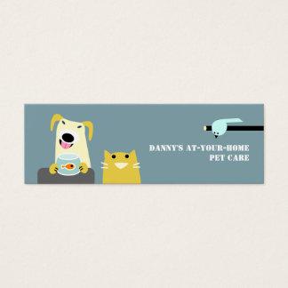 Pet Care Professional Mini Business Card