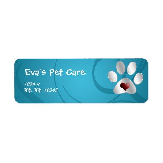 pet care Return address label