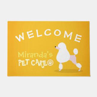 Pet Care Sitting Adorable Cartoon Dog Welcome Doormat