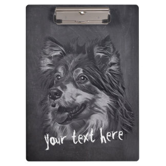 Pet Care Sitting Grooming Adorable Cartoon Dog Clipboard