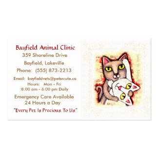 Pet Care Veterinarian Cat Care Business Cards