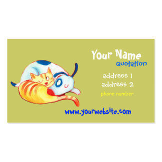 pet care, veterinarians, animal lovers business card template
