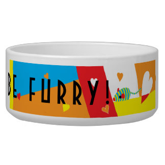 "Pet CAT Bowl Large ""Eat, Drink and be Furry"""
