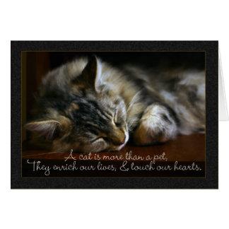 Pet Cat Sympathy Card, Loss Of Pet Card