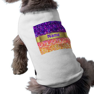 Pet Clothing Glitter Graphic