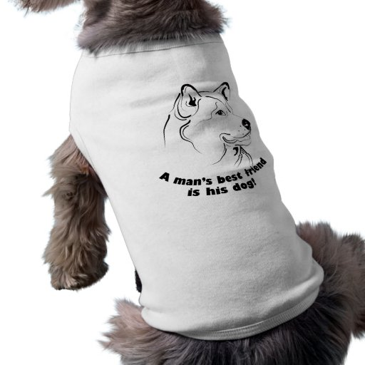 Pet clothing with graphic dog face