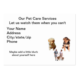 Pet day care business card templates