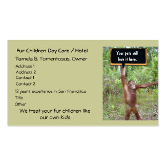 Pet Day Care or Boarding Business Cards
