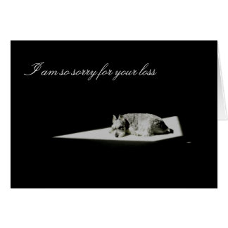 Pet Death, Sympathy Card