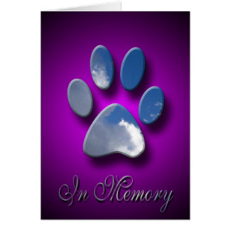 Pet Death Sympathy Card | In Memory Of Pet