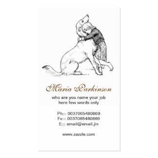 pet dog and human friendship business cards