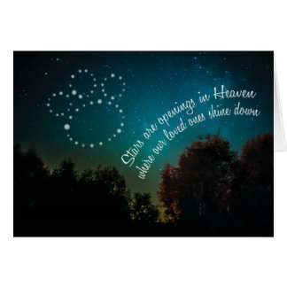 Pet Dog Cat Sympathy Card - Stars in Heaven
