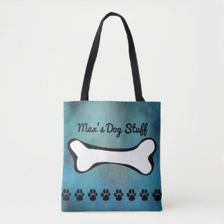 Pet Dog Toys & Accessories Watercolor Tote Bag