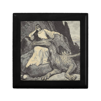 Pet Dragon and Maiden Small Square Gift Box
