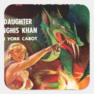 Pet Dragon Square Sticker