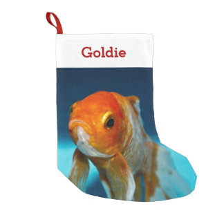 Pet Fish Lover Photo & Name Personalized Small Christmas Stocking