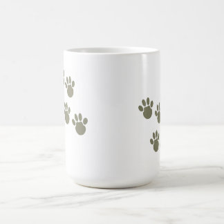 pet footprint coffee mug