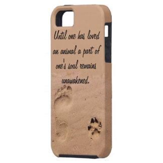 Pet & Footprint in the Sand Case For The iPhone 5