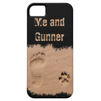 Pet & Footprint in the Sand iPhone 5 Case