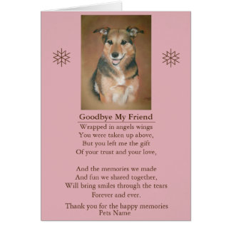 pet friend sympathy poem original customizable card