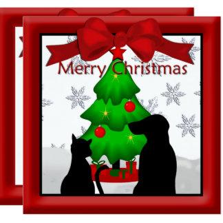 Pet Friends Christmas Greeting Card
