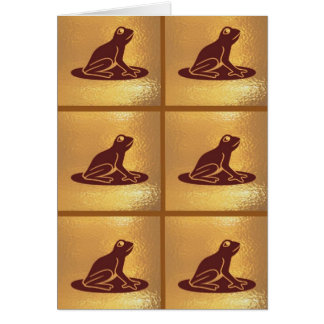 Pet Frog Pattern : Golden Base Card