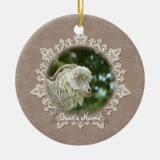 Pet Goat Memorial Vintage Lace Ornament