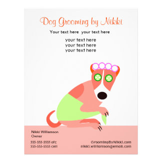 Pet Groomer's Promotional Flyer
