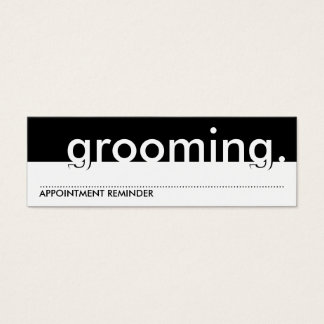 pet grooming. (appointment card) mini business card