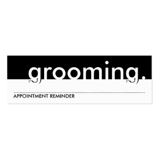 pet grooming. (appointment card) pack of skinny business cards