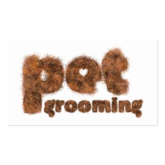 Pet Grooming Fur Modern Custom Business Card