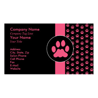 Pet Grooming PawPrint Pack Of Standard Business Cards